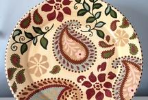 pinturas em porcelana