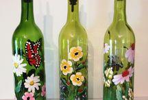 botella con vitrales