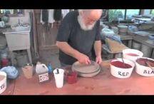 Pottery glazing
