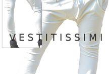 Pantalone donna sportivo tinta unita con zip orizzontale / Pantalone donna tuta sport con zip orizzontale, taasche e cerniera orizzontale