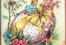 Buona Pasqua e primavera vintage