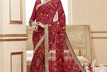 Best Bandhni sarees online / Best collection of Bandhni sarees ! SHOP NOW - http://bit.ly/1QYbB9E