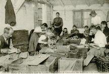 METIER BOUCHONNIER LIEGEUR / Photos anciennes du métier de bouchonnier liègeur dans les Landes