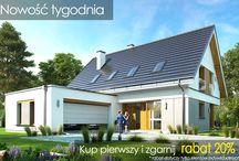 Projekt domu Viking / Projekt domu Viking to podstawowa bazowa wersja projektu z serii domów Viking. Jest to projekt parterowego budynku z poddaszem użytkowym, dla rodziny 4-6cioosobowej. Dom o prostej nowoczesnej bryle, energooszczędny, zbudowany na planie prostokąta, przykrytego dwuspadowym symetrycznym dachem, z dobudowanym parterowym garażem.