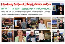 Exhibit: Cotton County Art Council / Cotton County Art Council Holiday Exhibition and Sale at the Chisholm Trail Heritage Center, Duncan, Oklahoma; Nov. 2 - Dec. 24, 2017