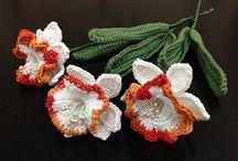 Blomster-hækle/Strikke