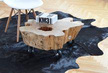 pieniek pieniek / stumps changed into designed furniture
