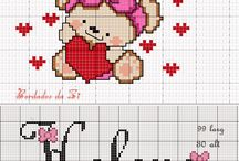 Cross Stitch ~ Teddy Bears