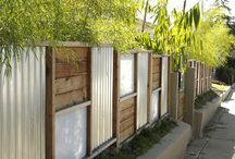 creative fences / different things to put, build on a side fence