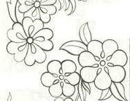 Dibujos para bordado y pintado