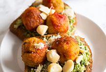 Food: Vegetable patties etc.