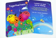 Harmony Cards / The Harmony Cards for Kids comes with a guidebook offering simple, effective and meaningful ways to bring out the best in each other.  Encouraging, nurturing, noticing, guiding, celebrating and recognising character strengths, virtues and values awareness in our day-to day.