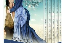 WILD WESTERN WOMEN / Western historical romance novellas by five authors: Kirsten Osbourne, Callie Hutton, Sylvia McDaniel, Merry Farmer, and Caroline Clemmons plus two short stories by Merry Farmer and Caroline Clemmons