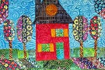Quilt houses / by Marsha Asmus Friou