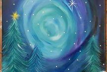 téli festmények