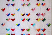 Heart quilt inspiration / Baby quilt for my second sweetie should be with hearts print. I needed to have some inspiration (although I already have an idea for this quilt).