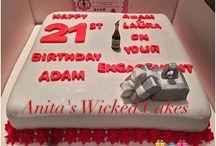 21st & engagement cake