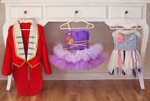 circus costumes and hobby horses