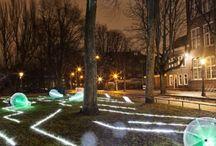 Inspiratie lichtkunst / Onderzoeksbord: Licht- en geluidskunst in het Drentse landschap