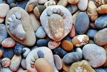 Stone Footprints / Scottish photographer Iain Blake came up with this very cool idea, which he calls Stone Footprints