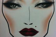 Make up / Face charts
