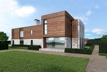285, 287, and 289 Parsonage Lane, Sagaponack NY / Construction is under way for these ultra modern homes crafted by JBialsky Premiere Design & Development and designed by GRADE Architecture + Interior Design. - See more at: http://www.bespokerealestate.com/hamptons-homes-for-sale/