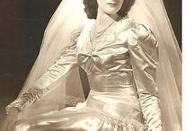 Hey Viv ! 20th Century Vintage Wedding Glam / Satin and sparkles, flowers and lace -- 100 years of retro bridal style, from the beautiful to the questionable.