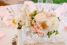 Milk Glass as Centerpieces & Decor / Ideas on how to use milk glass for your next event! / by Brass & Milk Glass