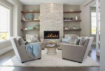 Fireplace & Shelves
