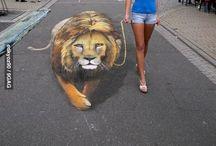 Malowanie kredą 3d
