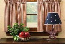adornos de cortinas de cocinas .