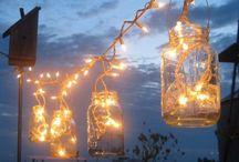 luz frascos