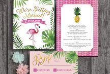 Tropical Prints & Palms wedding theme