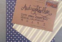envelope addressing / by Lisa McMullen