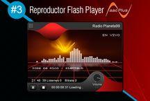 Reproductor Flash Player AACPlus #3 / Reproductor Flash Player AACPlus #3 gratis de SurDataCenter®, Realmente son ultra ligeros optimizado para su web con radio online.