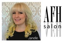Manager - Janelle Evelyn / When she is not booking your next appointment, she is probably drawing, painting, walking her dogs, or simply enjoying the city. She likes to incorporate art into every aspect of her life and you will most likely see her with a new hair color or style when you come in. Janelle is excited to see where this journey of being an artist and working in a creative environment will take her!