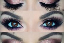 Eye makeup three pictures