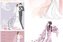 rajzos esküvős