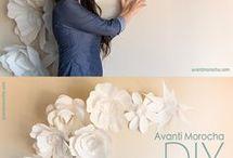 Fleurs en papier géantes