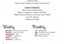 Cleaning Schedule ideas