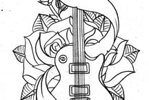 Music / Music is the expression of the soul. Images for colouring that are musically influenced.
