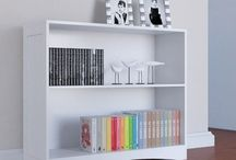Sideboard White Furniture Bookcase Cabinet Modern Decor Home Shelves Cupboard