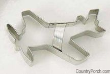 Cookie Cutters / Here at The Country Porch we carry 100's of easy to use cookie cutters just ready for your special occasion. We have new cutters every season, so just ask us! We can overnight cutters or 2nd day ship!