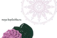 Dibujos De Flores De Ganchillo