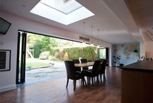 Modern extension to a family home in Chandlers Ford / Two Storey extension with large folding door set