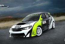 Mrlik Racing - C.Mrlik - J.Baier (Subaru Impreza STi) / Design and wrap for Rally Liezen 2014.