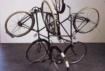 Bicicletas, obras de arte. / Espectaculares fotos e imágenes de obras de arte con partes de bicicletas o inspiradas en bicicletas.