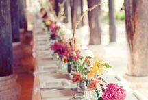 Rainbow coloured wedding themes / Rainbow weddings