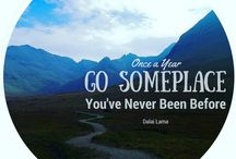 Travel Quotes / Elephant Stripes creates and curates stunning travel quotes to inspire your inner wanderluster
