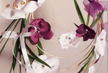 bouquet de mariée et portes alliances